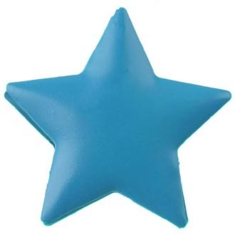 Pince décorative étoile turquoise x4