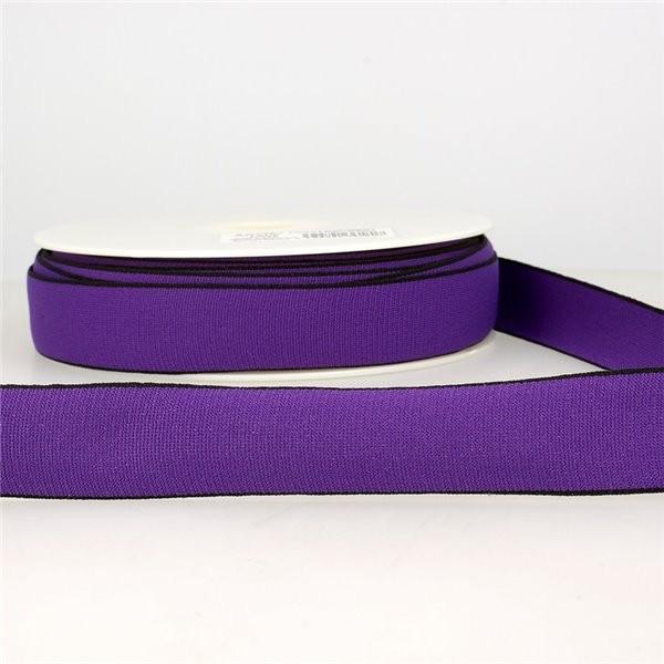Bobine 22m Elastique multicolore 25 mm Violet - Photo n°1