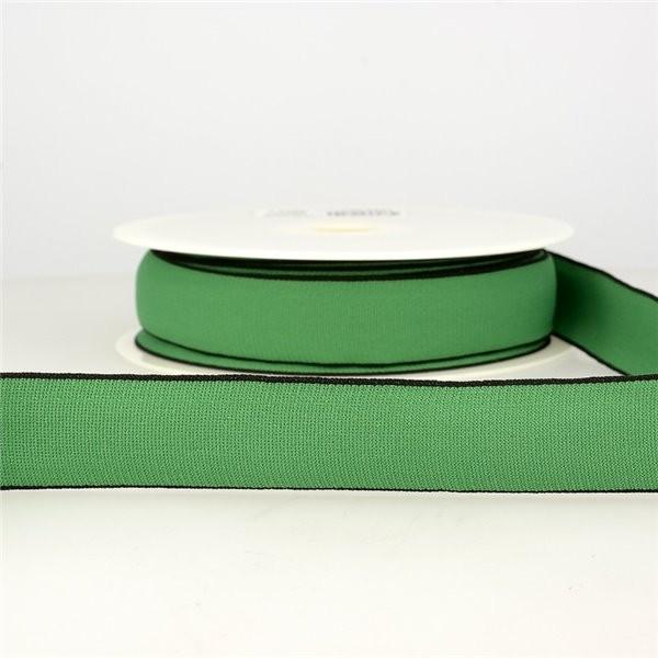 Bobine 22m Elastique multicolore 40 mm Vert Foncé - Photo n°1