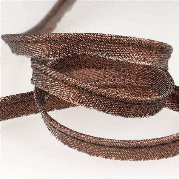 Bobine 25m Passepoil métallisé marron - Photo n°1