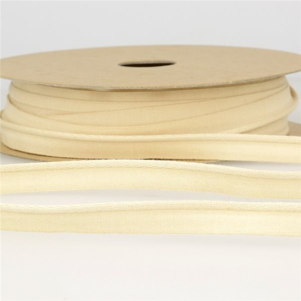 Bobine 25m Passepoil coton organique Ecru 9 mm - Photo n°2