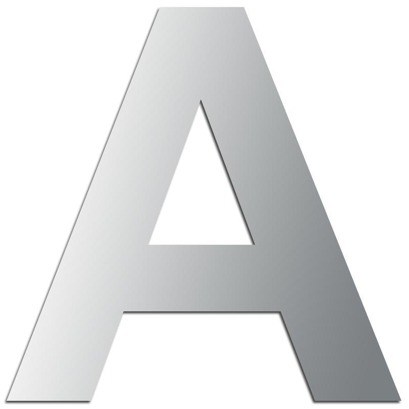 Miroir adh sif lettre a majuscule 3 2 cm lettre miroir adh sive creavea - K en majuscule ...