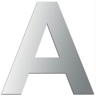 Miroir adhésif lettre A majuscule - 3,2 cm