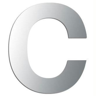 Miroir adhésif lettre C majuscule - 3,3 cm