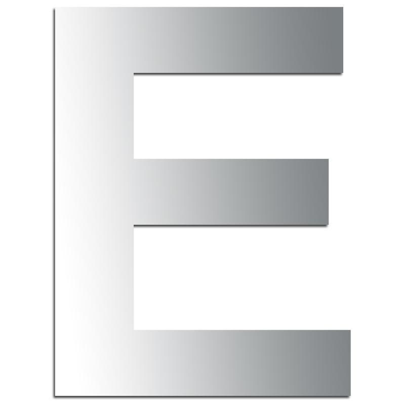 miroir adh sif lettre e majuscule 3 2 cm lettre miroir. Black Bedroom Furniture Sets. Home Design Ideas