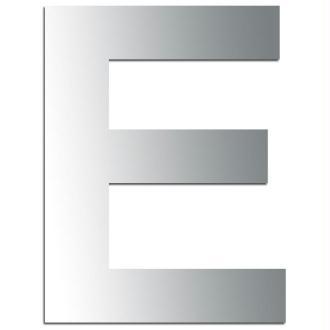 Miroir adhésif lettre E majuscule - 3,2 cm