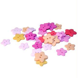 Boutons Fleur assortiment rose x30