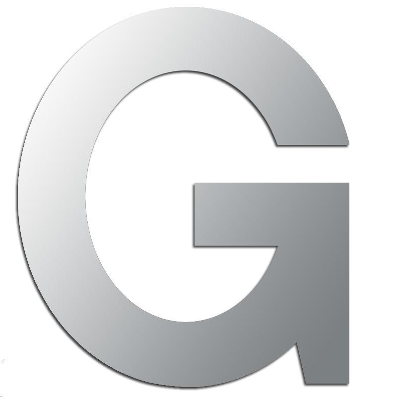 g lettre Miroir adhésif lettre G majuscule   3,3 cm   Lettre miroir  g lettre
