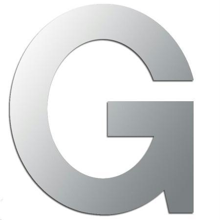 Miroir adhésif lettre G majuscule - 3,3 cm - Rico Design