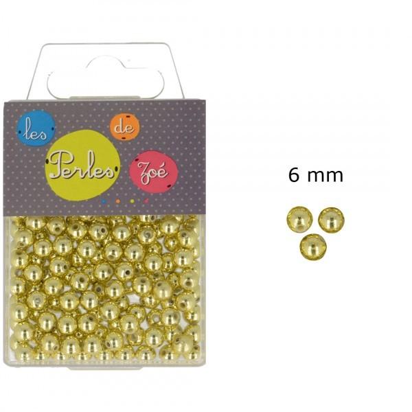Perles rondes or 6mm en boite de 20g - Photo n°1
