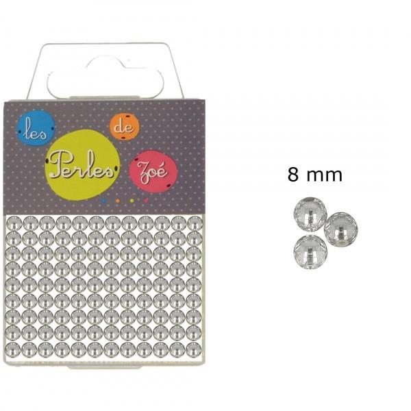 Perles rondes argent 8mm en boite de 20g - Photo n°1