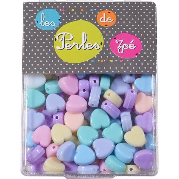 Perles plastiques cœur 8mm en boite de 20g - Photo n°1