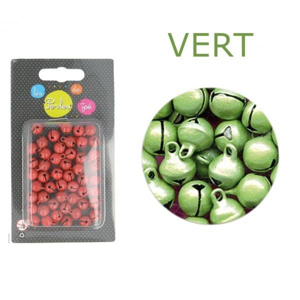 50 grelots en métal 8mm Vert - Photo n°1