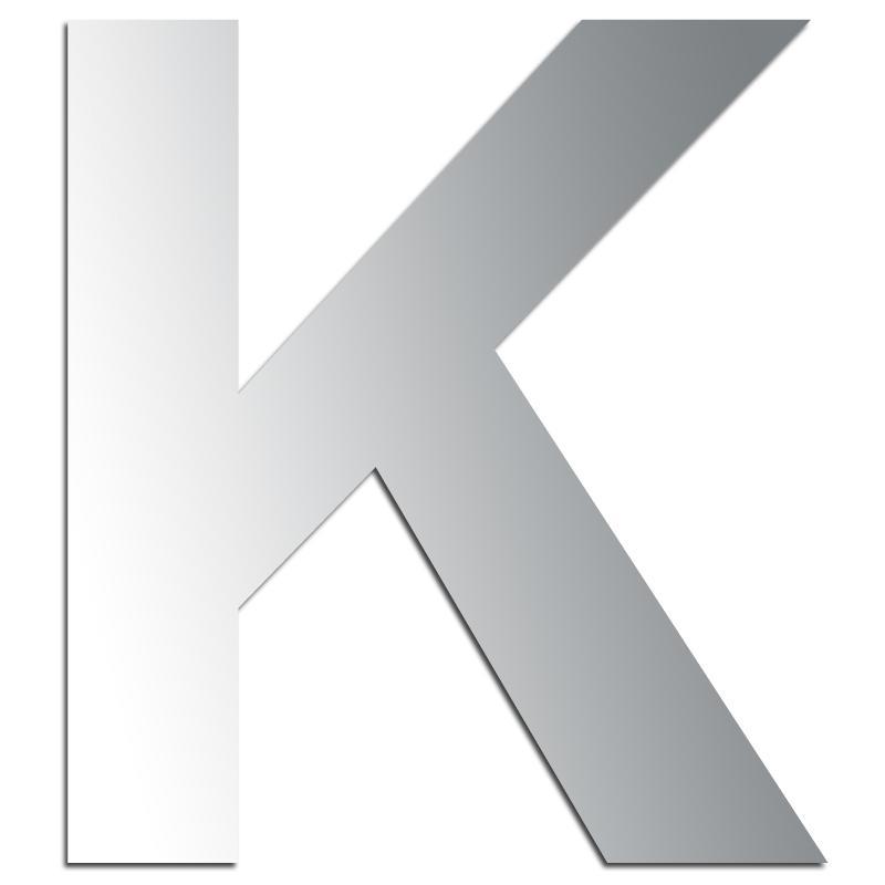 lettre k majuscule Miroir adhésif lettre K majuscule   3,2 cm   Lettre miroir  lettre k majuscule