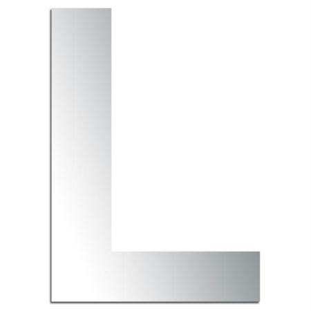 Miroir adh sif lettre l majuscule 3 2 cm lettre miroir for Miroir 2 metre
