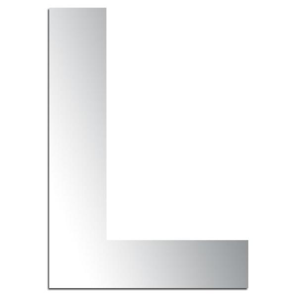 Miroir adhésif lettre L majuscule - 3,2 cm - Photo n°1