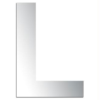 Miroir adhésif lettre L majuscule - 3,2 cm