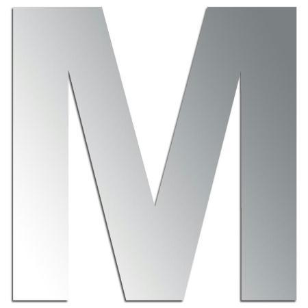 Miroir adhésif lettre M majuscule - 3,2 cm - Rico Design