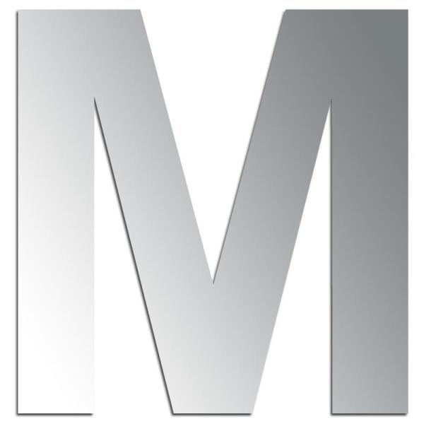 Miroir adhésif lettre M majuscule - 3,2 cm - Photo n°1