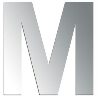 Miroir adhésif lettre M majuscule - 3,2 cm