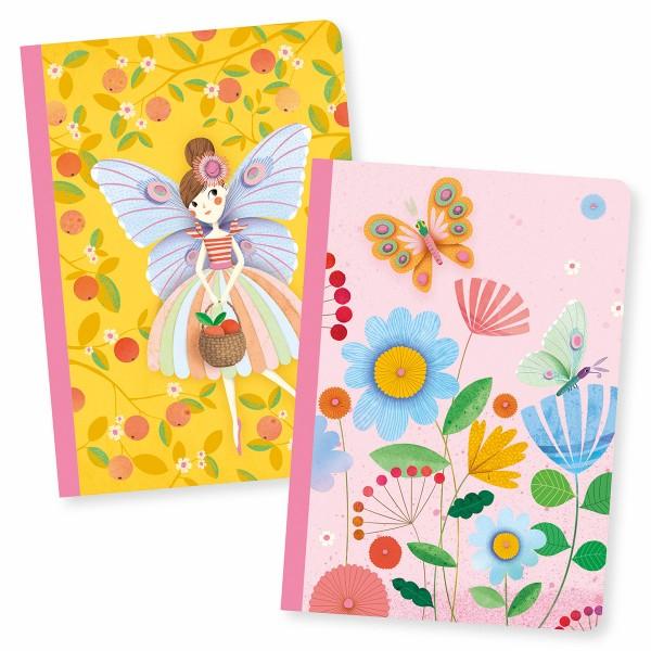 Petits Carnets de Notes Rose - 10,5 x 15 cm - 2 pcs - Photo n°1