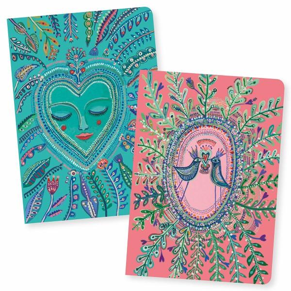 Petits Carnets de Notes Love Aurélia - 10,5 x 15 cm - 2 pcs - Photo n°1