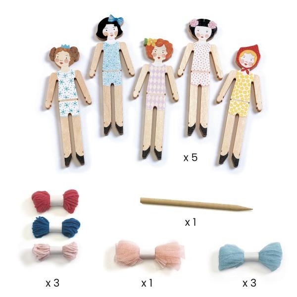 Kit Créatif Djeco - Do it Yourself Sweet Night - 5 poupées à créer - Photo n°3