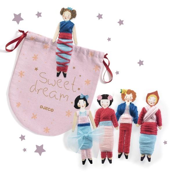 Kit Créatif Djeco - Do it Yourself Sweet Night - 5 poupées à créer - Photo n°4
