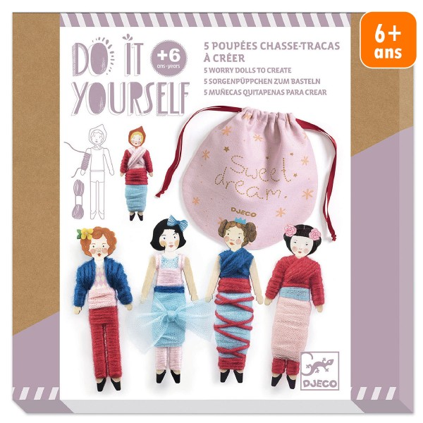 Kit Créatif Djeco - Do it Yourself Sweet Night - 5 poupées à créer - Photo n°1