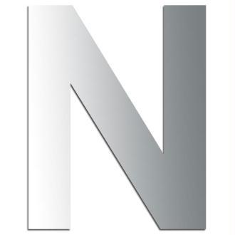 Miroir adhésif lettre N majuscule - 3,2 cm