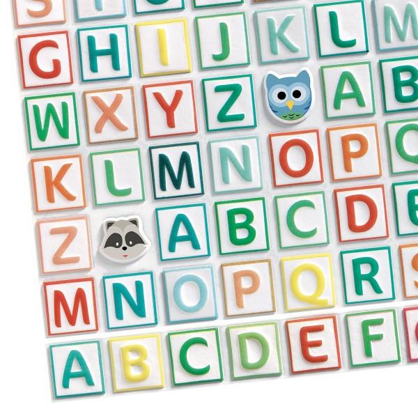 Gommettes Alphabet puffies - 300 gommettes - Photo n°2