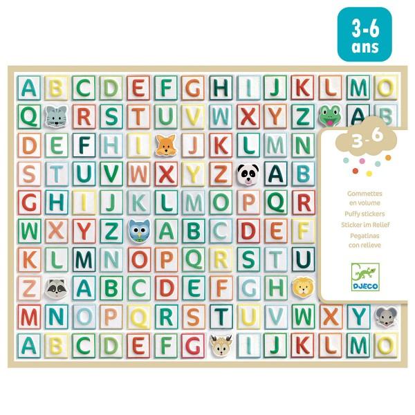 Gommettes Alphabet puffies - 300 gommettes - Photo n°1