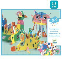 Kit Créatif Djeco - Animaux à assembler - 3 pcs