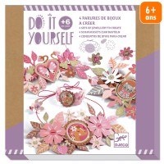 Kit Créatif Djeco - Do it Yourself Doux médaillons - 4 parures de bijoux à créer