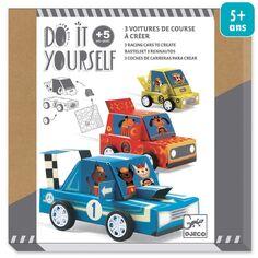 Kit Créatif Djeco - Do it Yourself Grand Prix - 3 voitures de courses à créer