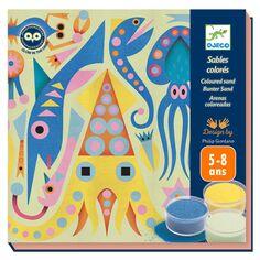Kit Créatif Djeco - Sable coloré & phosphorescent - Sea lights - 4 tableaux