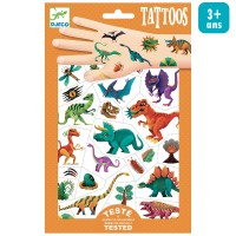 Tattoos temporaires - Dino Club