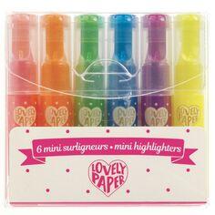 Mini Surligneurs Lovely Paper - 6 pcs