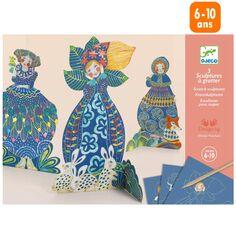 Mini Kit Créatif Djeco - Cartes à gratter - Jolies Robes