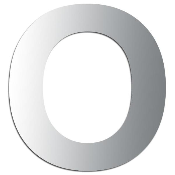 Miroir adhésif lettre O majuscule - 3,3 cm - Photo n°1