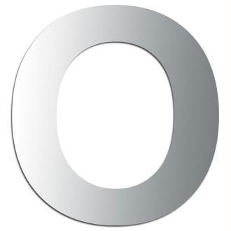 Miroir adhésif lettre O majuscule - 3,3 cm