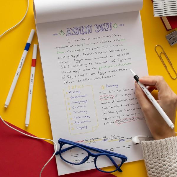 Emott - Feutres d'écriture et de dessin pointe fine - Couleurs vives - 5 pcs - Photo n°2