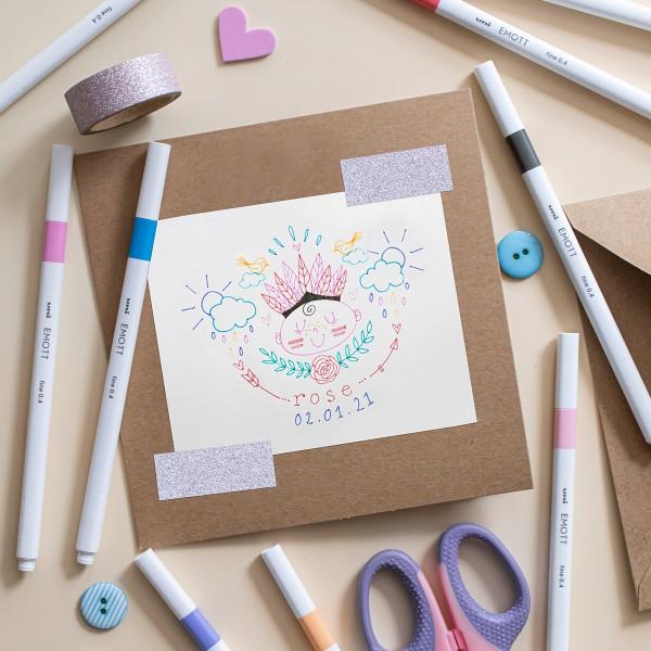 Emott - Feutres d'écriture et de dessin pointe fine - Couleurs Candy Pop - 5 pcs - Photo n°4