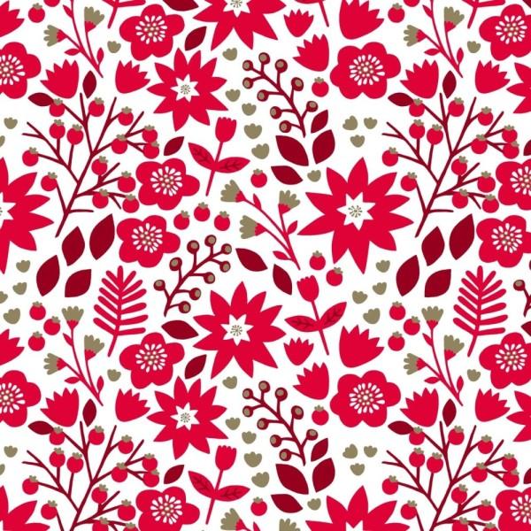 Tissu Dashwood studio collection de noel - starlit hollow - fleur et feuilles - coton - 10cm/laize - Photo n°1