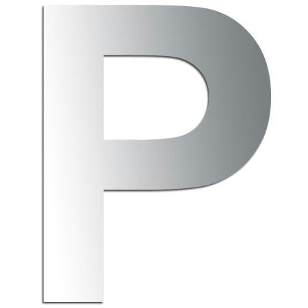 Miroir adhésif lettre P majuscule - 3,2 cm - Rico Design