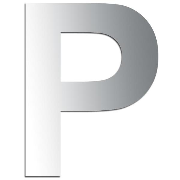 Miroir adhésif lettre P majuscule - 3,2 cm