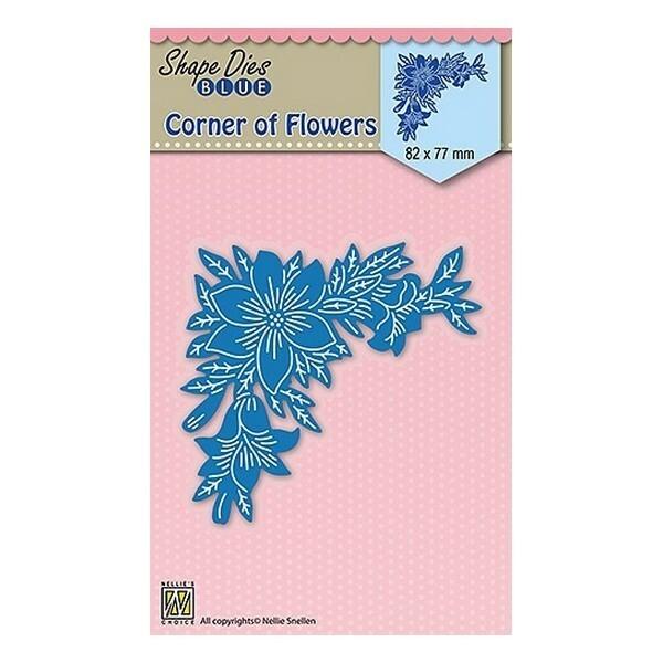Matrice de découpe Shape dies BLUE Nellie s CHOICE CORNER OF FLOWERS 035 - Photo n°1
