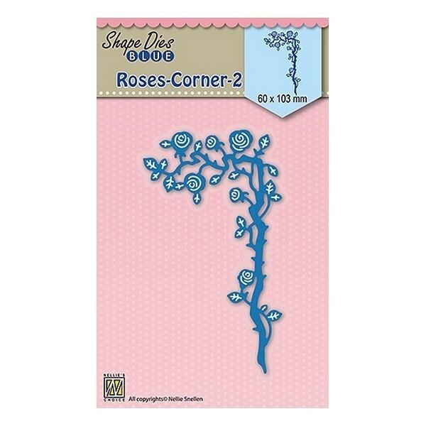 Matrice de découpe Shape dies BLUE Nellie s CHOICE ROSE CORNER 2 037 - Photo n°1