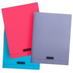 Cahier piqué 24 x 32 cm - Petits carreaux - 96 pages - Plusieurs coloris disponibles