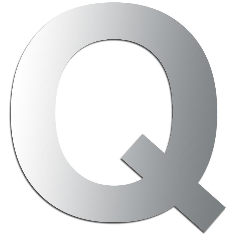 lettre q Miroir adhésif lettre Q majuscule   3,5 cm   Lettre miroir  lettre q